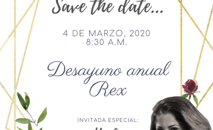 Save the date...Desayuno Rex 2020